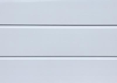 Cunningham Door Creations - Aluminium horizontal white